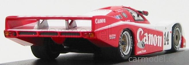 MINICHAMPS 430856514 Scala 1/43  PORSCHE 956B (BASE 935) 2.6L TURBO TEAM RICHARD LLOYD RACING N 14 2nd 24h LE MANS 1985 J.PALMER - J.WEAVER - R.LLOYD WHITE RED