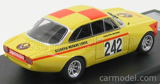 COMPETITION43 C0242 Scale 1/43  ALFA ROMEO GTAJ N 242 JAGERMEISTER HILLCLIMB BRUNNER 1972 YELLOW ORANGE