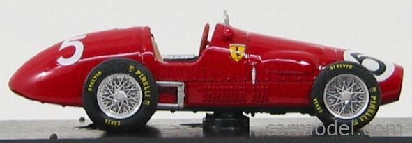 BRUMM R044-UPD Echelle 1/43  FERRARI F1  500 F2 N 5 ENGLISH GP A. ASCARI 1953 WORLD CHAMPION RED