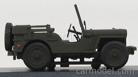 EDICOLA C021 Masstab: 1/43  JEEP WILLYS CARABINIERI 1947 MILITARY GREEN
