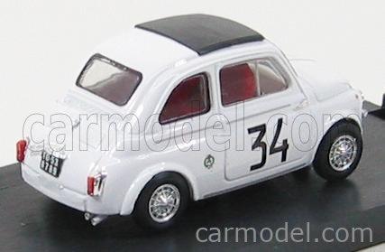 BRUMM R473 Masstab: 1/43  FIAT 500 595 ABARTH N 34 WINNER CRITERIUM APERTURA MONZA 1964 FRANCO PATRIA WHITE