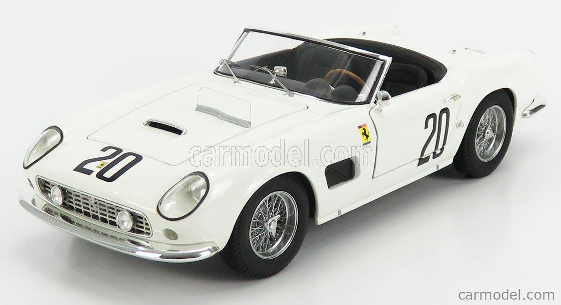 Mattel Hot Wheels T6931 Masstab 1 18 Ferrari 250gt California Swb Spider N 20 Lm 1969 White
