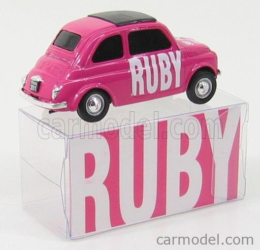 BRUMM BR013 Echelle 1/43  FIAT 500 RUBY - SE NON ORA QUANDO? PINK