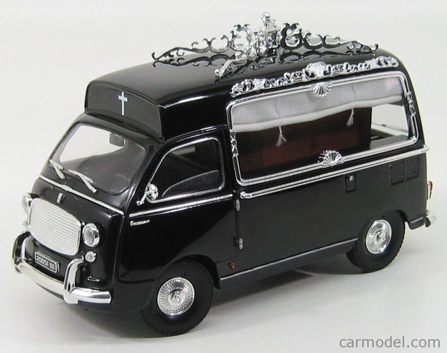 MINIMINIERA MMT74350 Scale 1/18  FIAT 600 MULTIPLA (CORIASCO) CARRO FUNEBRE - FUNERAL CAR 1962 BLACK