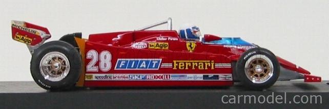 BRUMM R488-CH Escala 1/43  FERRARI F1  126CK TURBO N 28 GP USA OVEST LONG BEACH 1981 DIDIER PIRONI + FIGURE RED
