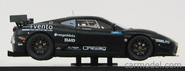 MATTEL HOT WHEELS V6683 Scale 1/43  FERRARI F430 GT3 KESSEL RACING N 0 6h VALLELUNGA 2009 A.CECCATO MATT BLACK MATT YELLOW