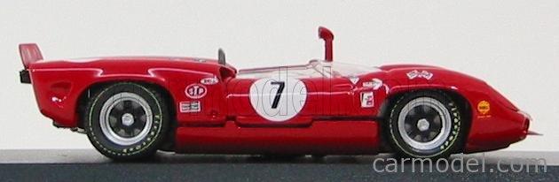 BEST-MODEL 9176 Echelle 1/43  LOLA T70 SPIDER N 7 RIVERSIDE 1966 J.SURTEES RED WHITE