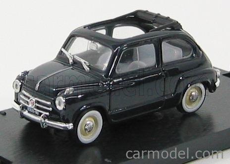 BRUMM R248-06-UPD Scale 1/43  FIAT 600 1956 TETTO APERTO - OPEN ROOF DARK BLUE