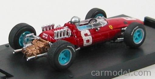 BRUMM R296-CH Echelle 1/43  FERRARI F1  158 N 6 12th GP ITALIA 1965 N.VACCARELLA RED