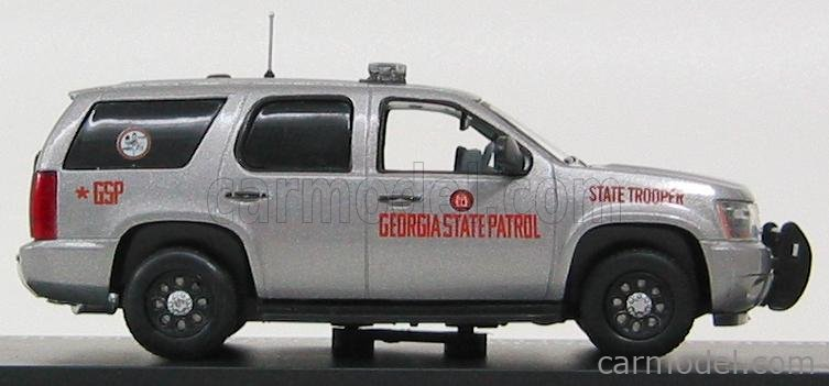 FIRST-RESPONSE TAH101 Echelle 1/43  CHEVROLET TAHOE GEORGIA STATE PATROL SPECIALIZED COLLISION RECONSTRUCTION TEAM 2011 GREY MET