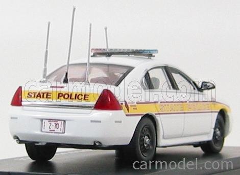 FIRST-RESPONSE IMP102 Escala 1/43  CHEVROLET IMPALA ILLINOIS STATE POLICE 2011 WHITE YELLOW