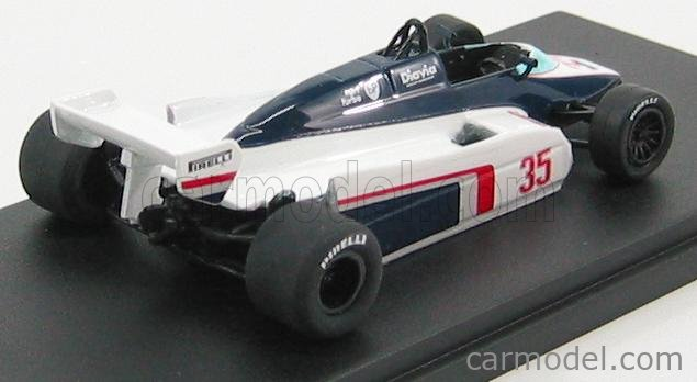 CP-MODEL 082 Masstab: 1/43  TOLEMAN F1  TG183 N 35 GP MONZA 1982 D.WARWICK WHITE BLUE RED