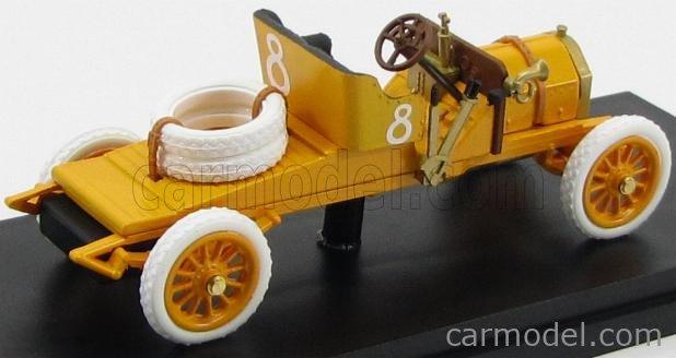 RIO-MODELS 4357 Масштаб 1/43  ITALA 45 CV N 8 TARGA FLORIO 1906 BARONE PIERRE DE CATERS YELLOW