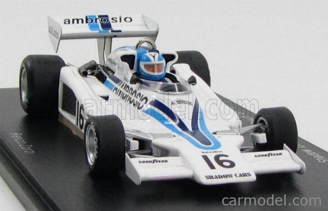 Spark S3841 Shadow DN5B #17 6th brasileño GP 1977-Renzo Zorzi 1//43 Escala