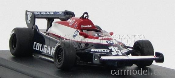 CP-MODEL 099/35 Masstab: 1/43  TOLEMAN F1  TG 181G COUGAR N 35 1982 DEREK WARWICK BLUE WHITE RED