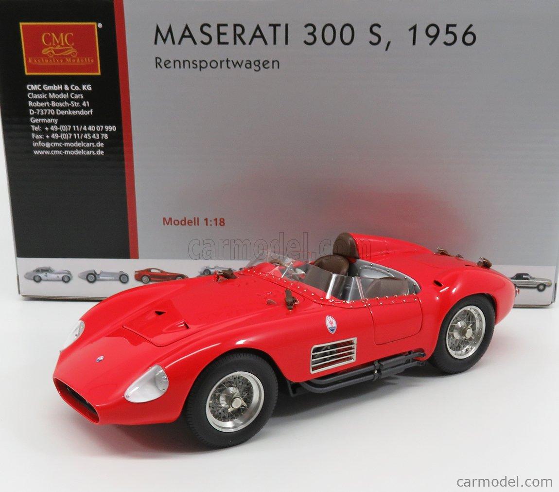 CMC M105 Echelle 1/18  MASERATI 300S SPIDER BIPOSTO - 2 SEATS 1956 RED