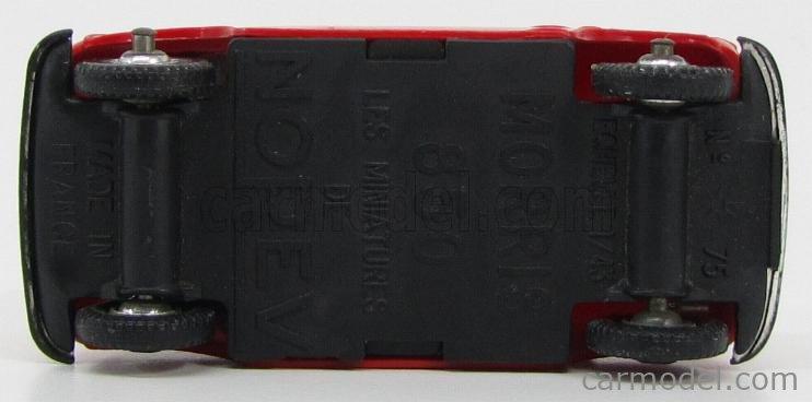 NOREV PLAST 75 Scale 1/43  MORRIS MINI 850 RED