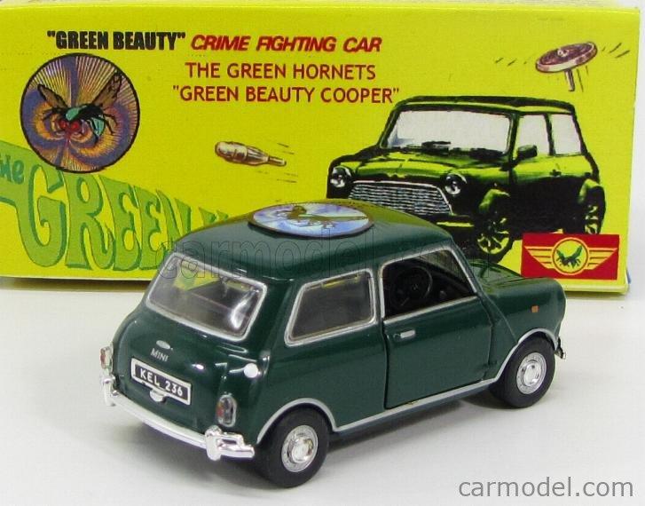ARTIGIANALE CODE3 Echelle 1/43  MINI COOPER - GREEN HORNET - GREEN BEAUTY COOPER - TV SERIES GREEN