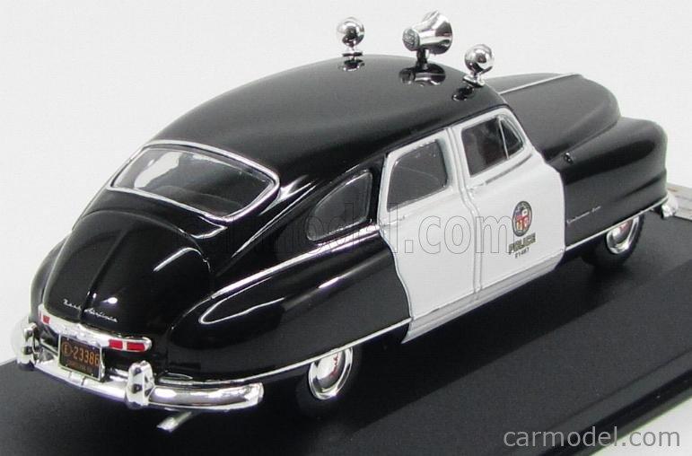 PREMIUM-X PRD220 Masstab: 1/43  NASH AMBASSADOR LOS ANGELES POLICE 1950 BLACK WHITE