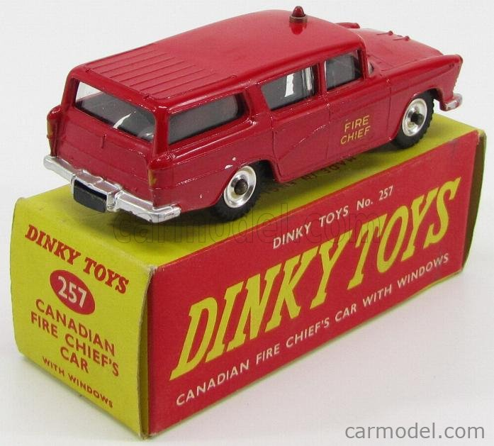 DINKY ENGLAND 257 Masstab: 1/43  NASH RAMBLER CANADIAN FIRE CHIEF'S CAR - FIRE ENGINE RED