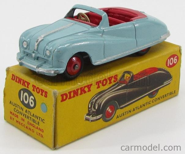 DINKY ENGLAND 106 Echelle 1/43  AUSTIN ATLANTIC CONVERTIBLE 1955 LIGHT BLUE
