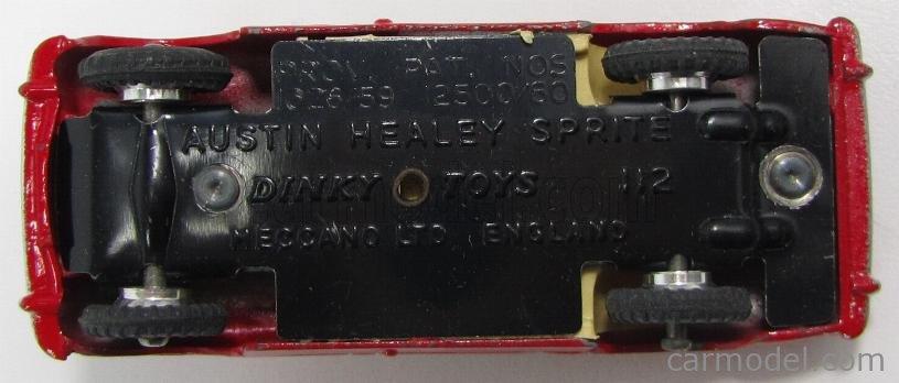 DINKY ENGLAND 112 Echelle 1/43  AUSTIN HEALEY SPRITE OPEN - SPIDER RED
