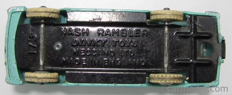 DINKY ENGLAND 173 Masstab: 1/43  NASH RAMBLER LIGHT GREEN RED