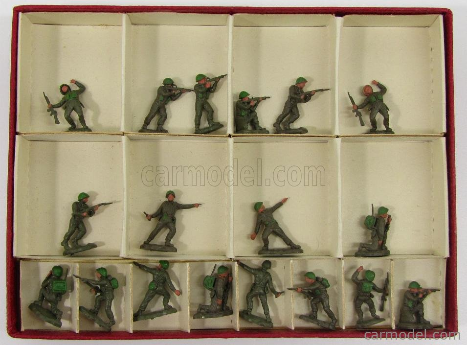 BRITAINS 3/127 Echelle 1/87  FIGURES  ASSORTMENT PLASTIC MILITARY OO SCALE - INCOMPLETO - INCOMPLETE MILITARY GREEN