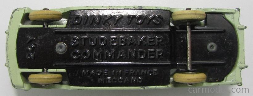 DINKY FRANCE 540-24Y Scale 1/43  STUDEBAKER COMMANDER 2 TONE GREEN