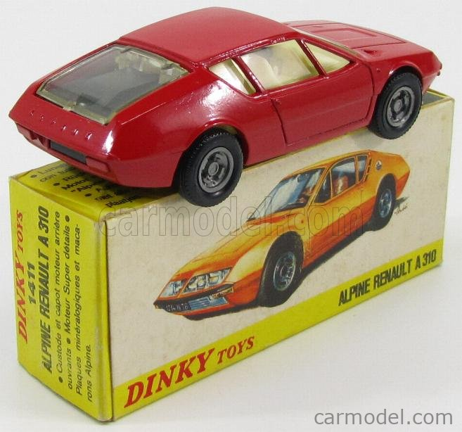 DINKY FRANCE 1411 Echelle 1/43  RENAULT ALPINE A310 RED