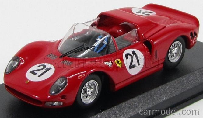 BEST-MODEL 9491 Echelle 1/43  FERRARI 330 P2 SPIDER N 21 TEST 24h LE MANS 1965 SURTEES - PARKES - VACCARELLA RED