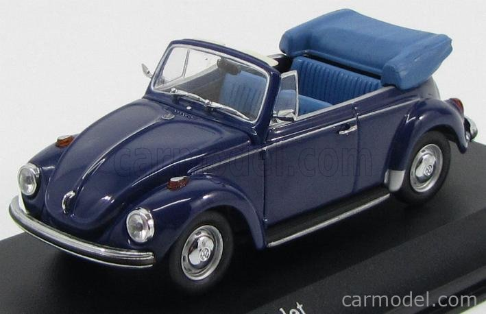 VW volkswagen escarabajo 1302 convertible amarillo con Soft top 1970-1972 1//43 Minichamps maxi