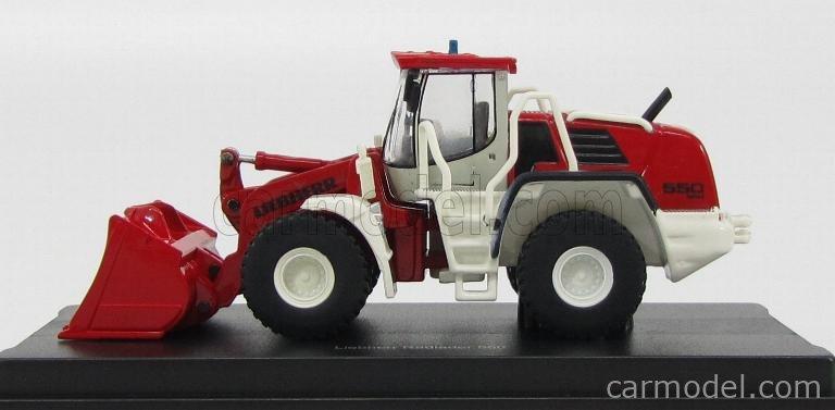 SCHUCO 26029 Masstab: 1/87  LIEBHERR TRACTOR RADLADER 550 2PLUS2 2011 RED WHITE