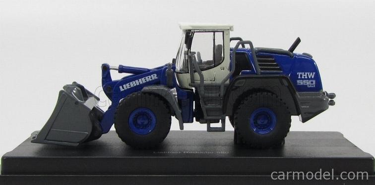 SCHUCO 25972 Masstab: 1/87  LIEBHERR TRACTOR RADLADER 550 2PLUS2 THW 2011 BLUE WHITE