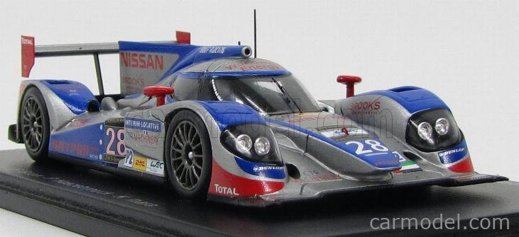 SPARK-MODEL S3749 Scale 1/43  LOLA B12/60-NISSAN GULF RACING MIDDLE EAST N 28 24h LE MANS 2013 F.GIROIX - P.HAEZEBROUCK - K.IHARA SILVER BLUE RED