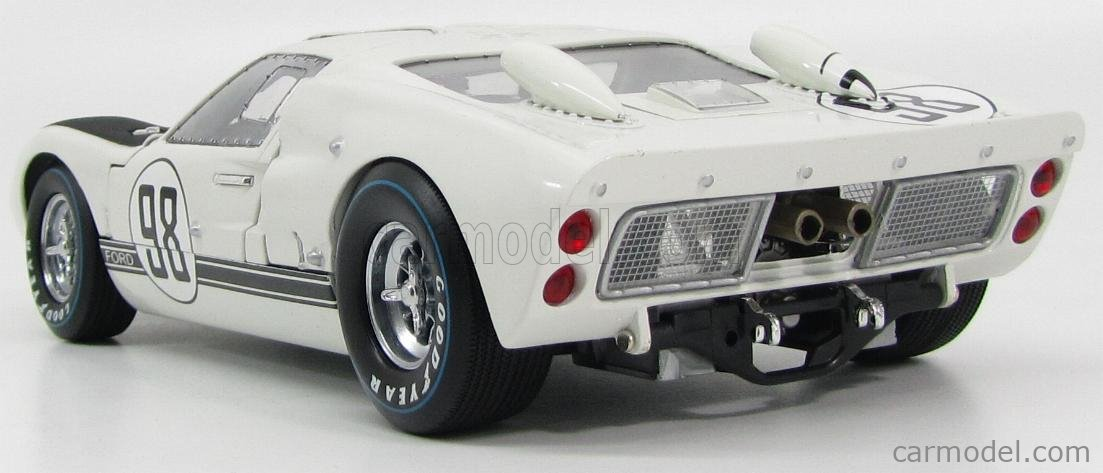 SHELBY-COLLECTIBLES SHELBY415 Scale 1/18  FORD USA GT40 MKII 7.0L V8 TEAM SHELBY AMERICAN INC. N 1 N 98 WINNER 24h DAYOTNA 1966 K.MILES - L.RUBY WHITE MATT BLACK