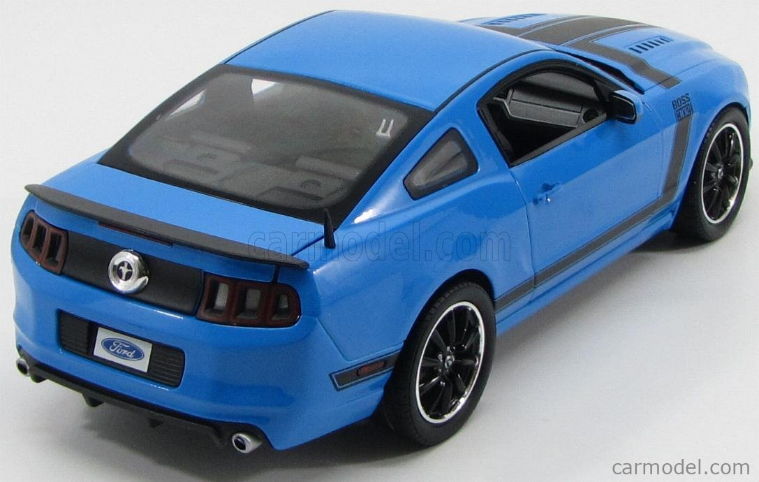 SHELBY-COLLECTIBLES SHELBY450 Scale 1/18  FORD USA MUSTANG SHELBY BOSS 302 COUPE 2013 BLUETTE BLACK