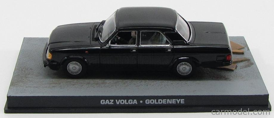 EDICOLA BONDCOL080 Scale 1/43  GAZ GAZ VOLGA 1992 - 007 JAMES BOND - GOLDENEYE BLACK