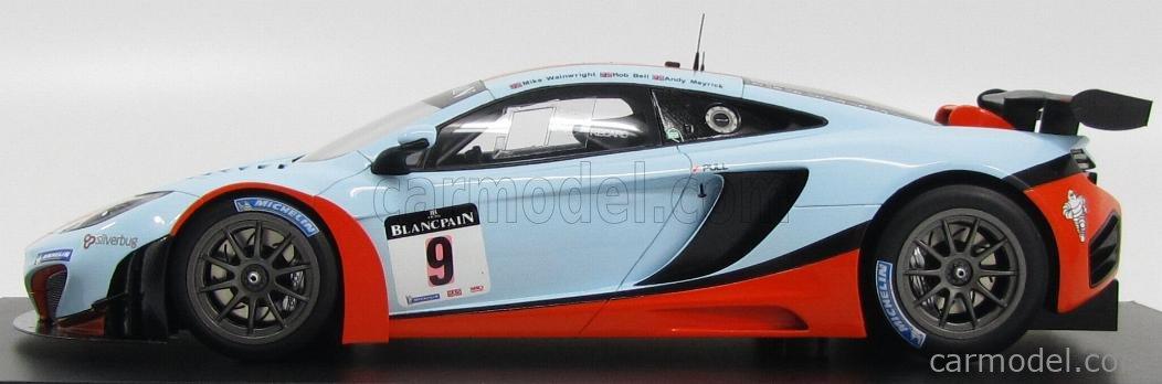 TRUESCALE TSM131814R Masstab: 1/18  McLAREN MP4-12C GT3 TEAM GT GULF RACING N 9 45th 24h SPA 2012 R.BELL - A.MEYRICK - M.WAINWRIGHT LIGHT BLUE ORANGE
