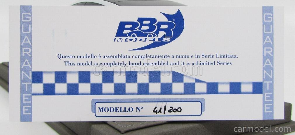 BBR-MODELS BBR1813 Scale 1/18  ALFA ROMEO GLORIA IED CONCEPT CAR GENEVE MOTORSHOW 2013 ROSSO 8C - RED MET BLACK WHITE PEARL MET