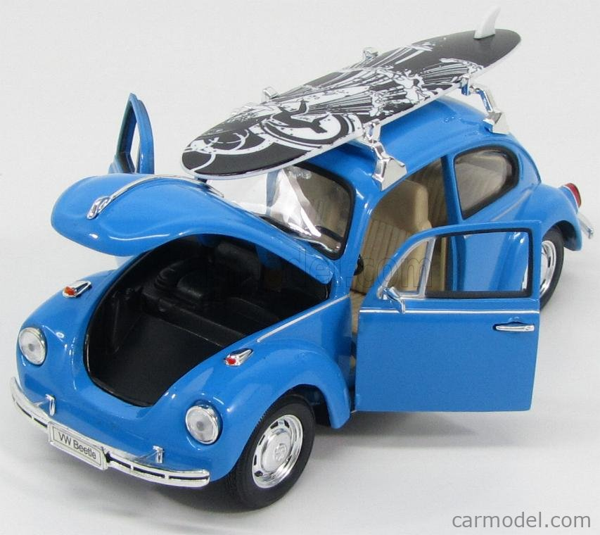 WELLY WE22436SBB Масштаб 1/24  VOLKSWAGEN BEETLE 1302 1971 WITH SURFBOARD BLUE