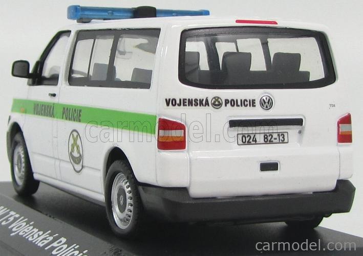 BASE HONGWELL FOXVWT5VP Echelle 1/43  VOLKSWAGEN T5 MINIBUS VOJENSKA MILITARY POLICIE 2006 WHITE GREEN