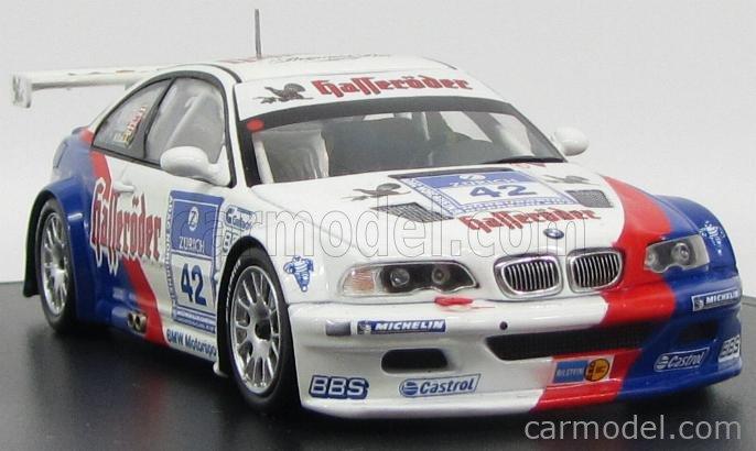 MINICHAMPS 80420304706 Scale 1/43  BMW 3-SERIES M3 GTR N 42 24h NURBURGRING 2003 H-J.STUCK - B.SAID - J.NIELSEN - M.DUEZ WHITE BLUE RED
