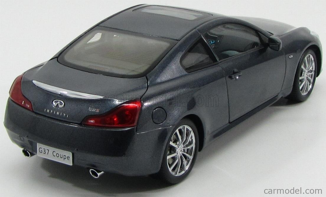 Paudi 5502bl Scale 1 18 Infiniti G37 Coupe 2 Door 2012 Blue Grey Met