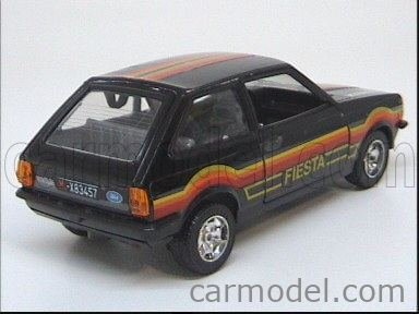 MEBETOYS MATTEL 6742 Scale 1/25  FORD ENGLAND FIESTA SPECIAL BLACK