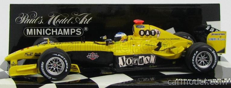 MINICHAMPS 400040018 Scala 1/43  JORDAN F1  FORD EJ14 N 18 RACE VERSION 2004 N.HEIDFELD YELLOW BLACK