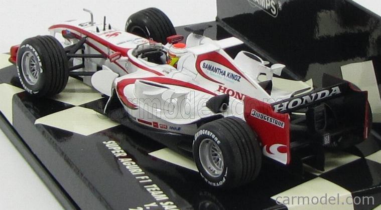 MINICHAMPS 400060023 Echelle 1/43  SUPER AGURI F1  SA05 N 23 RACE VERSION 2006 Y.IDE WHITE RED