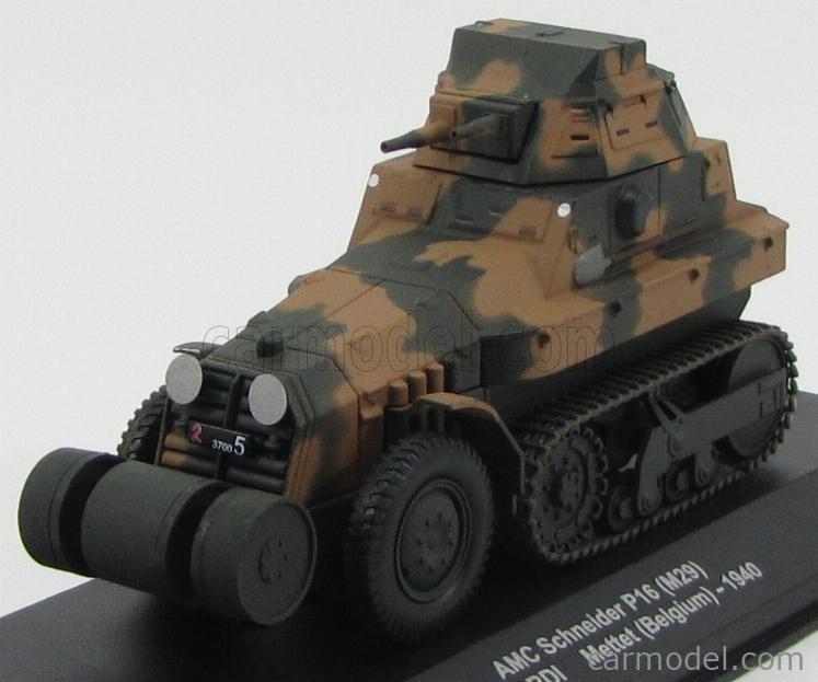 EDICOLA EDVMEC-EX05 Masstab: 1/43  AMC SCHNEIDER TANK P16 (M29) 1ere' METTET BELGIUM 1940 MILITARY CAMOUFLAGE