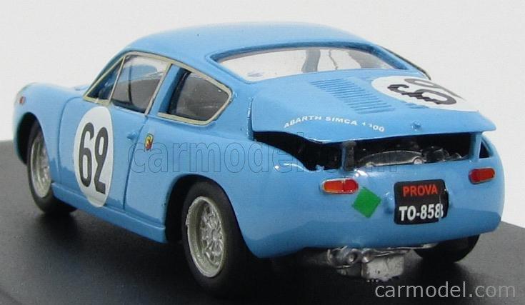 PINKO PI090 Masstab: 1/43  SIMCA 1300 ABARTH BIALBERO TEAM ABARTH CORSE & CIE N 62 24h LE MANS 1962 G.BALZARINI - F.ALBERT LIGHT BLUE