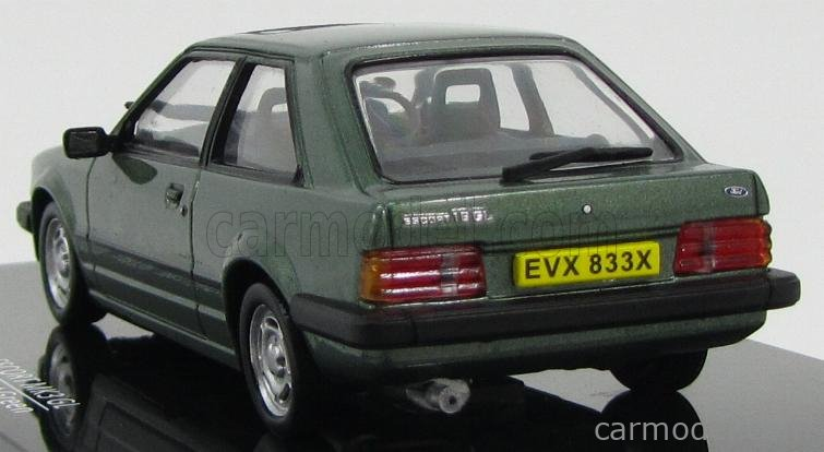 VITESSE 24833R Масштаб 1/43  FORD ENGLAND ESCORT MKIII 1.6 GL 1980 FOREST GREEN MET